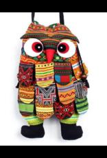 Small Vintage Owl Cross-Body Bag