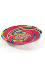 bridge for africa Small Oval Bowl - Red Rainbow
