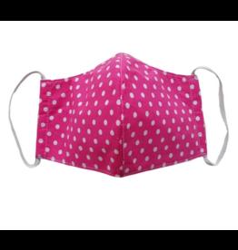 Face Mask Pink Polka Dot - Adult 100% Cotton