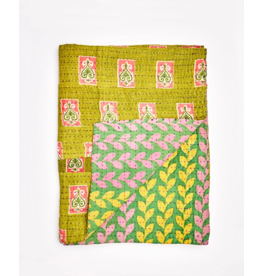 Anchal Project Small Kantha Throw Quilt