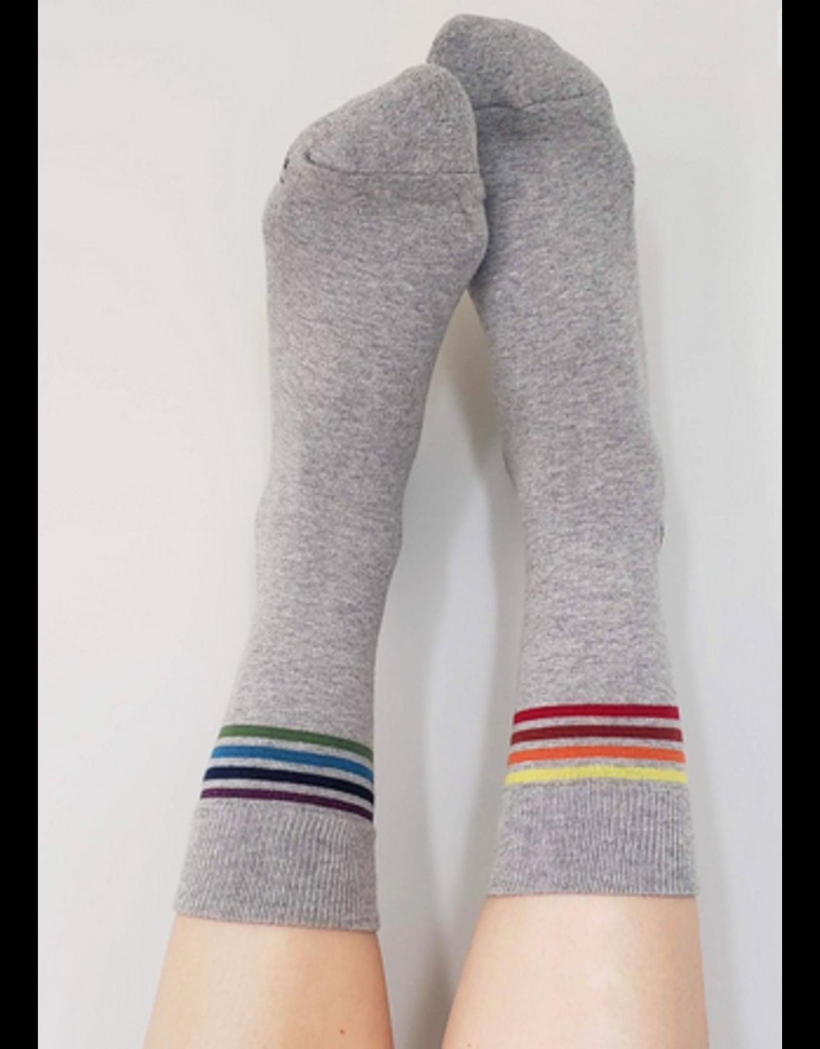 Conscious Step Socks that Save LGBTQ Lives- Medium Grey