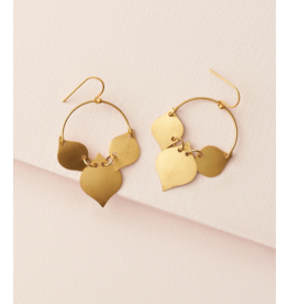 Matr Boomie Chameli Earrings - Gold Leaf