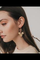 Matr Boomie Chameli Earrings - Gold Leaf
