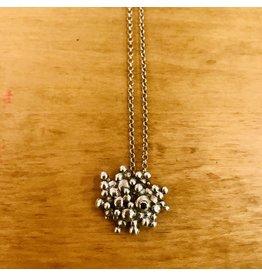Lisa Medoff Small SS Bubble Pendant-Black Tourmaline #118