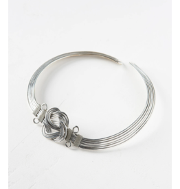 Matr Boomie Buddha Knot Necklace - Silver