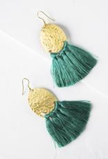 Matr Boomie Nihira Tassel Earrings - Teal