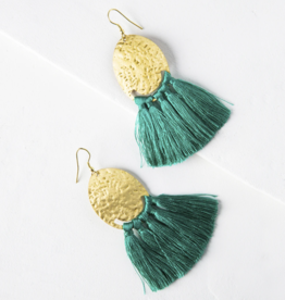 Matr Boomie Nihira Tassel Earrings - Teal