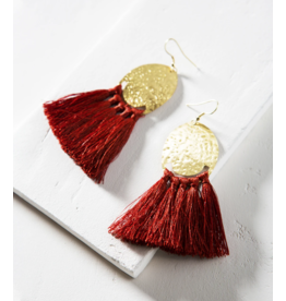 Matr Boomie Nihira Tassel Earrings - Red