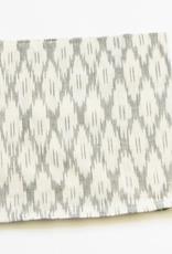 Rustic loom White Ogee Cotton Ikat Cloth Napkins