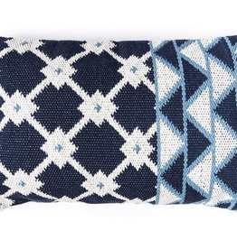 Bloom & Give Tina Indigo Cotton Pillow