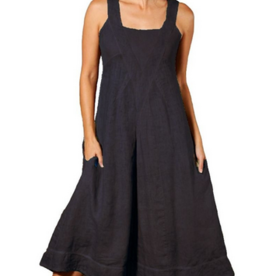 Porto Square Neck Linen Dress INN90309