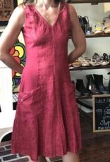 Porto V-Neck Cotton/Linen Pocket Dress