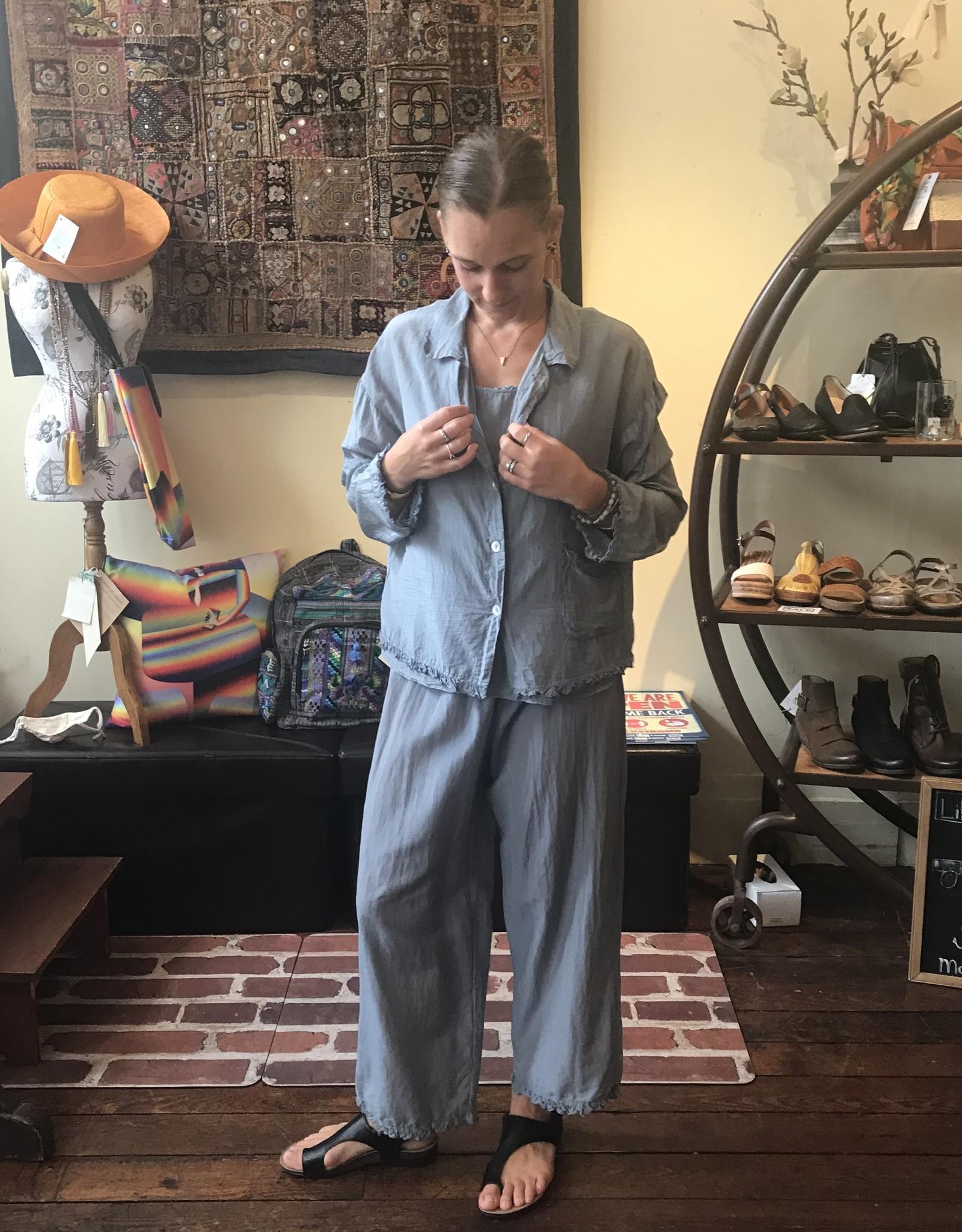 Cut Loose Silk Cotton Voile Pajama Top
