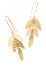 Matr Boomie Chameli Leaf Drop Earrings