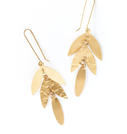 Matr Boomie Chameli Leaf Drop Earrings