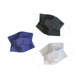 Lumily 3-Pack Vida Pleated Reusable Face Mask - Minimalist