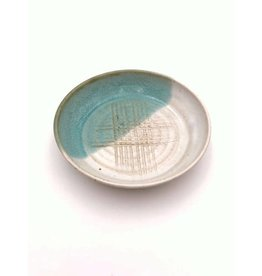 Stoneware Garlic Rub Plate