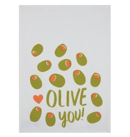 Peking Handicraft Olive You Kitchen Towel (Set of 2)
