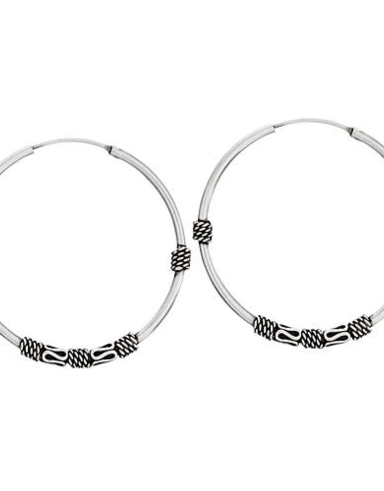 Tiger Mountain Twisted Wire Hoop Earrings