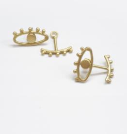 Mata Traders Eye to Eye Earrings Gold
