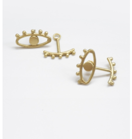 Mata Traders Eye to Eye Earrings Gold