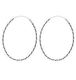 Tiger Mountain Thin Twist Oval Hoop Earrings
