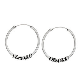 Tiger Mountain Small Beaded Hoop Earrings