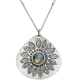 Tiger Mountain Stamped Sunflower Necklace
