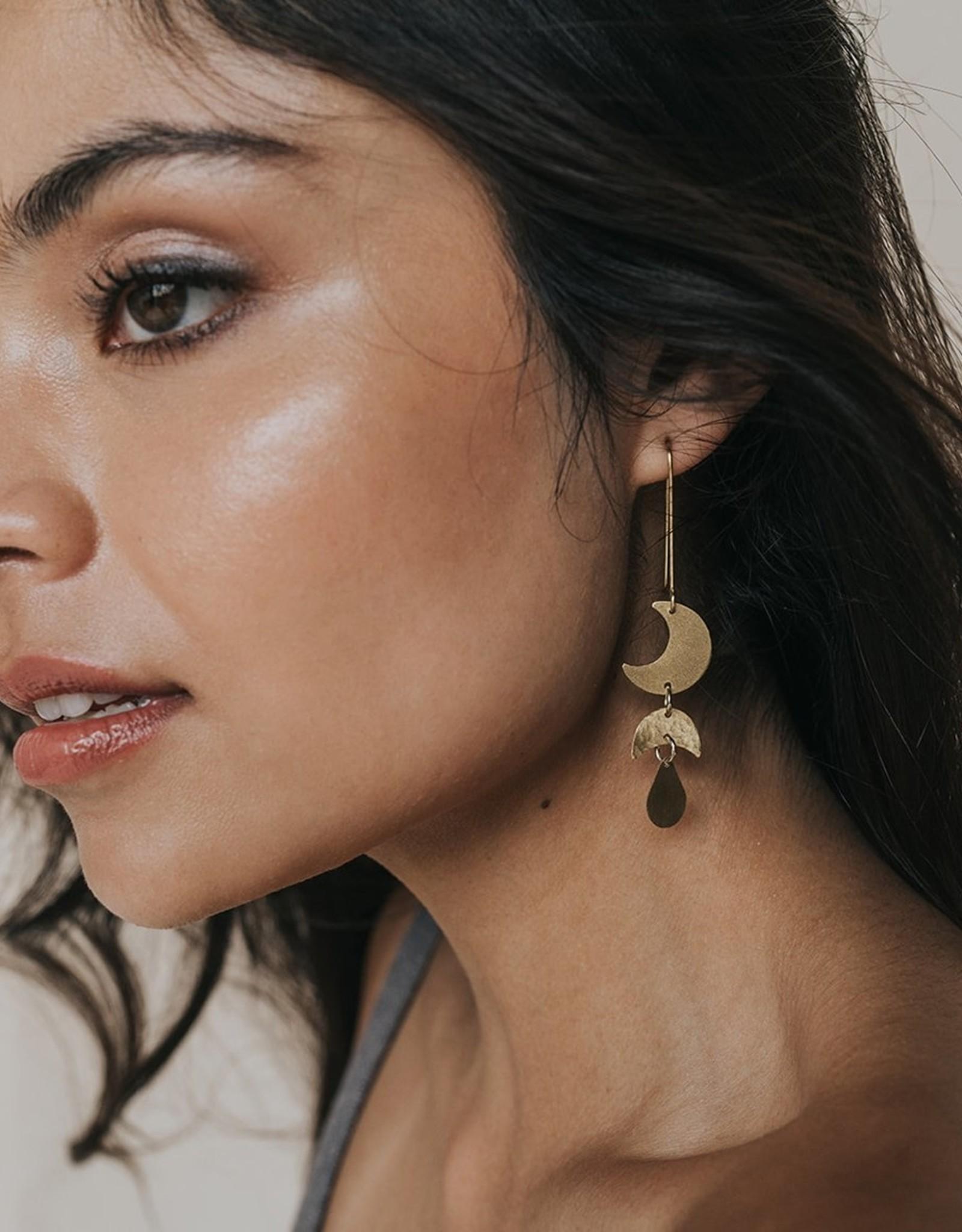 Rajani Gold Drop Earrings