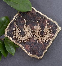 Baizaar Cutout Lotus Earrings