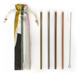 Hali Hali 6 pc Eco Friendly Reusable Straw Set