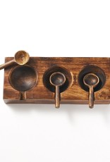 Matr Boomie Mango Wood Spice Tray / 3 Scoops