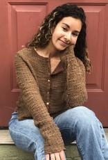 Cut Loose Textured Crop Sweater Cardigan