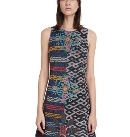 Desigual Desigual Multicolor Textured Dress
