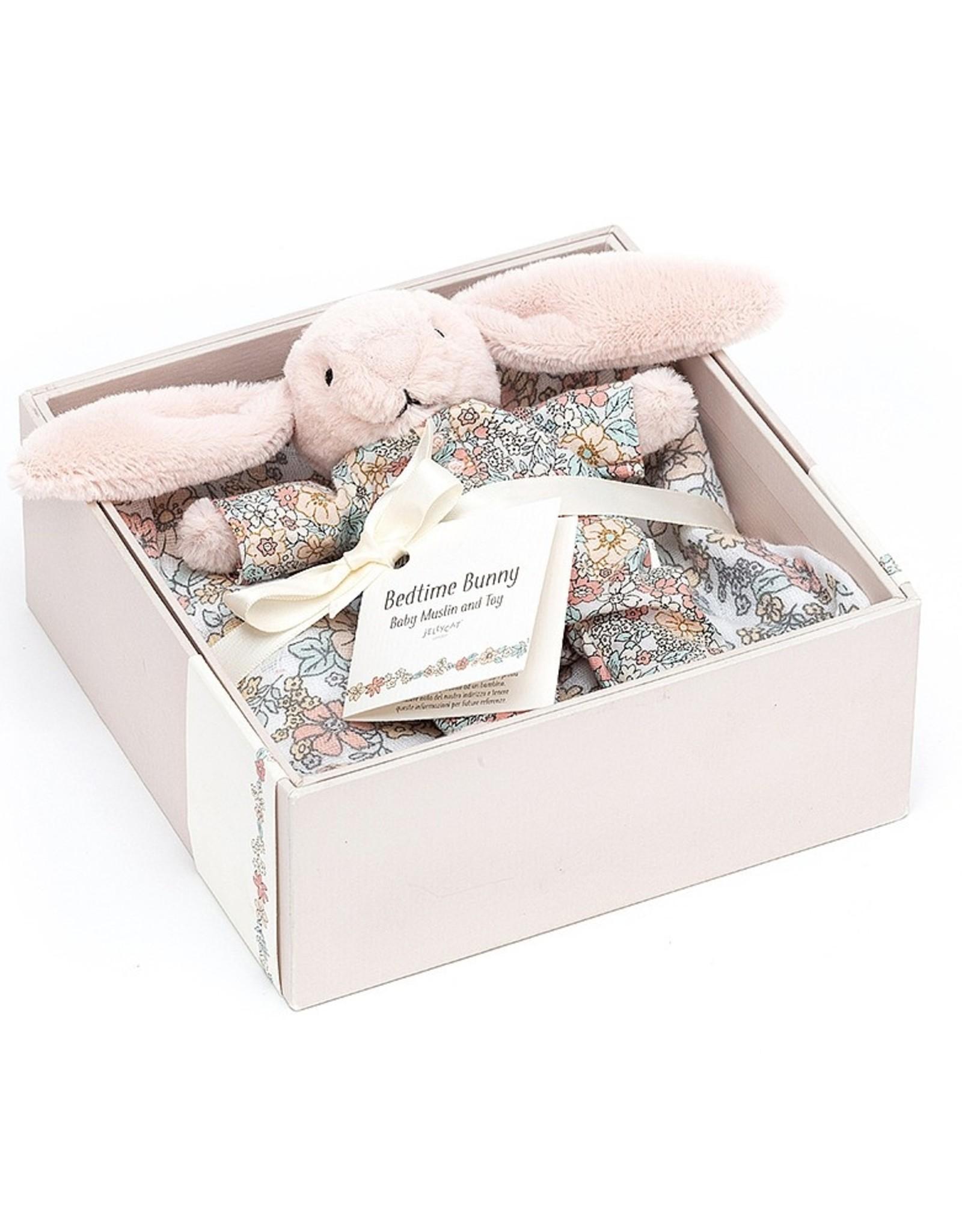 Jelly Cat Bedtime Blossom Bunny Muslin & Toy Set