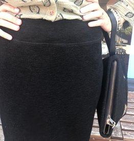 Cut Loose Walking Skirt Textured Pinstripe