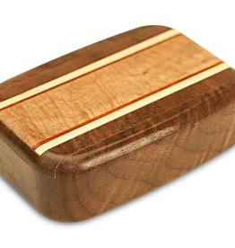 "Heartwood Creations 3"" Wide Walnut and Maple Box"