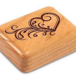 "Heartwood Creations 2"" Flat Art Heart Box"