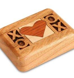 "Heartwood Creations 2"" Flat Cherry XOXO Box"