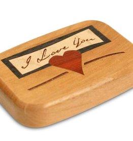 "Heartwood Creations 3"" Flat Cherry I Love You Box"