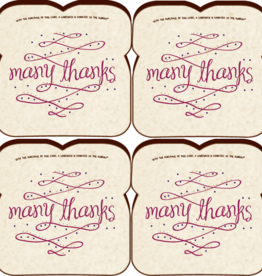 Food For Thoughts Cards Thank You Card 4-Pack