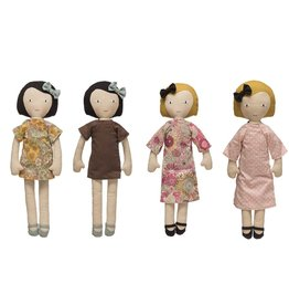 Creative Co-op Fabric Doll W/ Reversible Dress