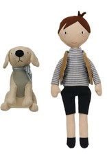 Creative Co-op Boy Doll and Dog Set