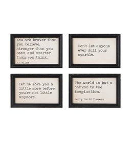 Creative Co-op Wood Wall Decor w/ Sayings