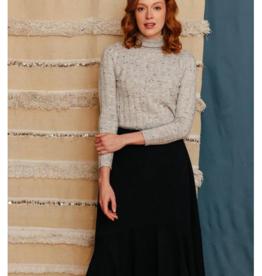 Mata Traders Fatima Flounce Skirt Black Jersey