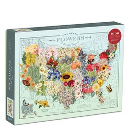 Hachette USA State Flowers 1000 Piece Puzzle