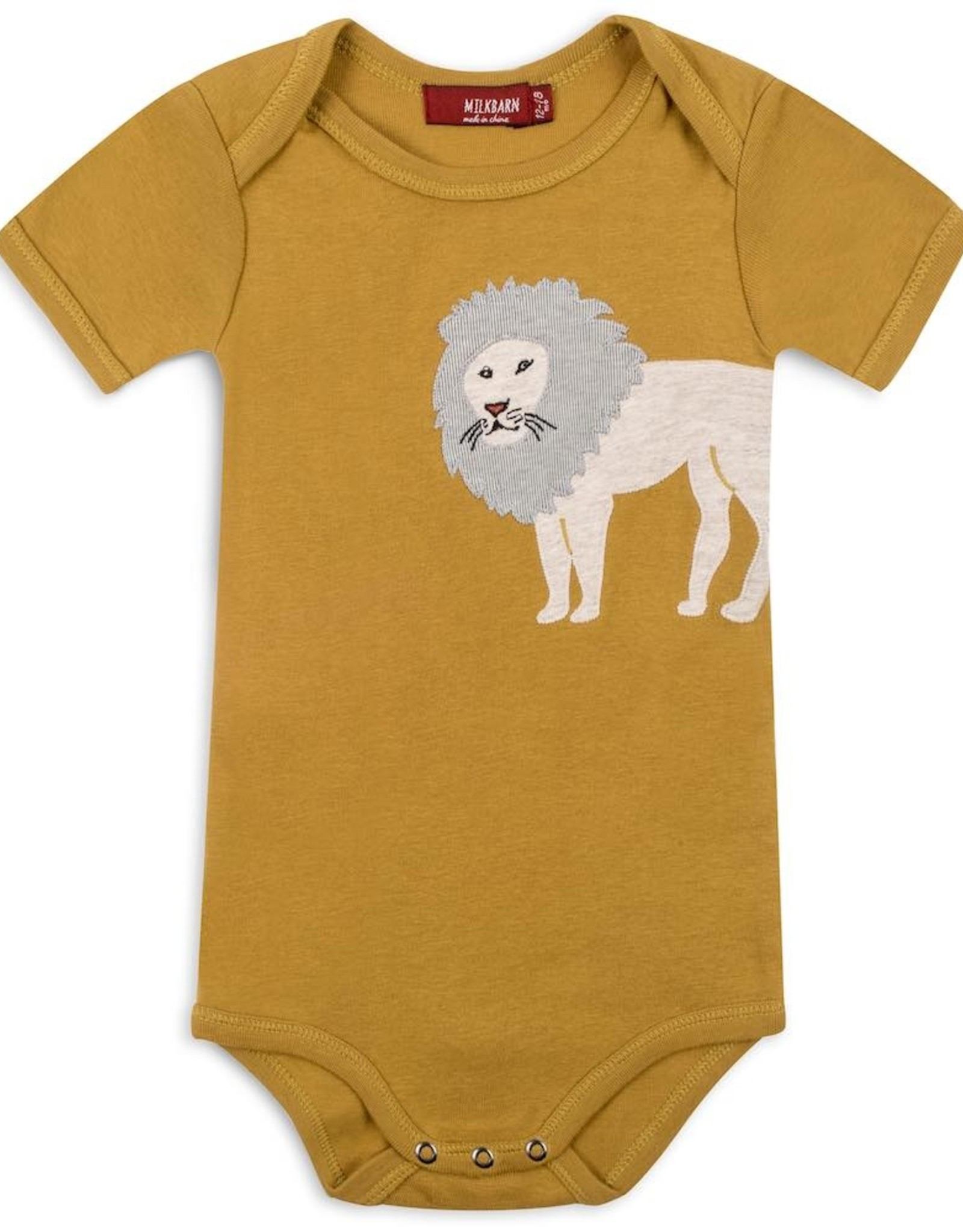 Milkbarn Applique Onesie - Lion