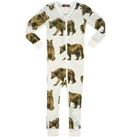 Milkbarn Bamboo Zipper Pajama - Bear