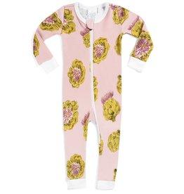 Milkbarn Organic Zipper Pajama - Artichoke