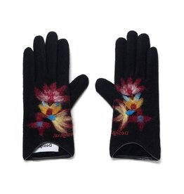 Desigual Lovely Embroidered Gloves